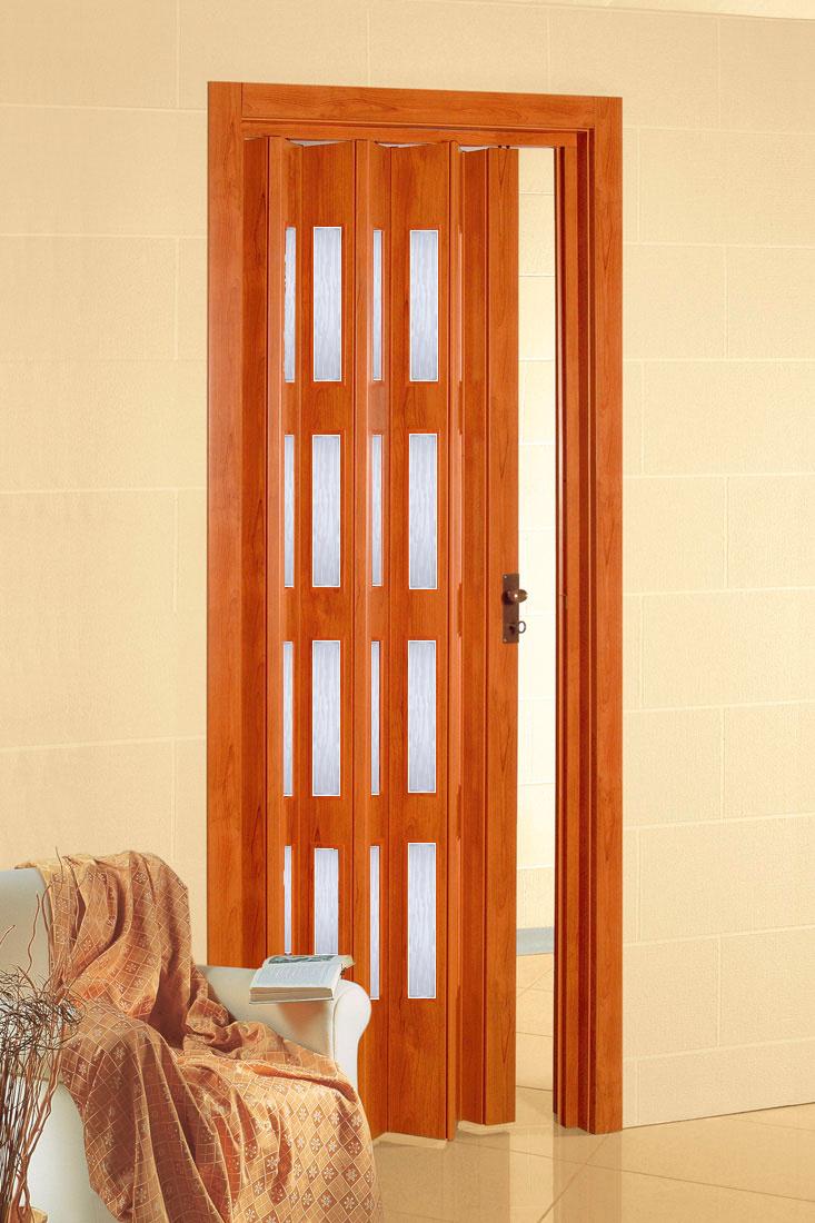 PETROMILA plastové shrnovací dveře třešeň ROZMĚR: 62x200cm