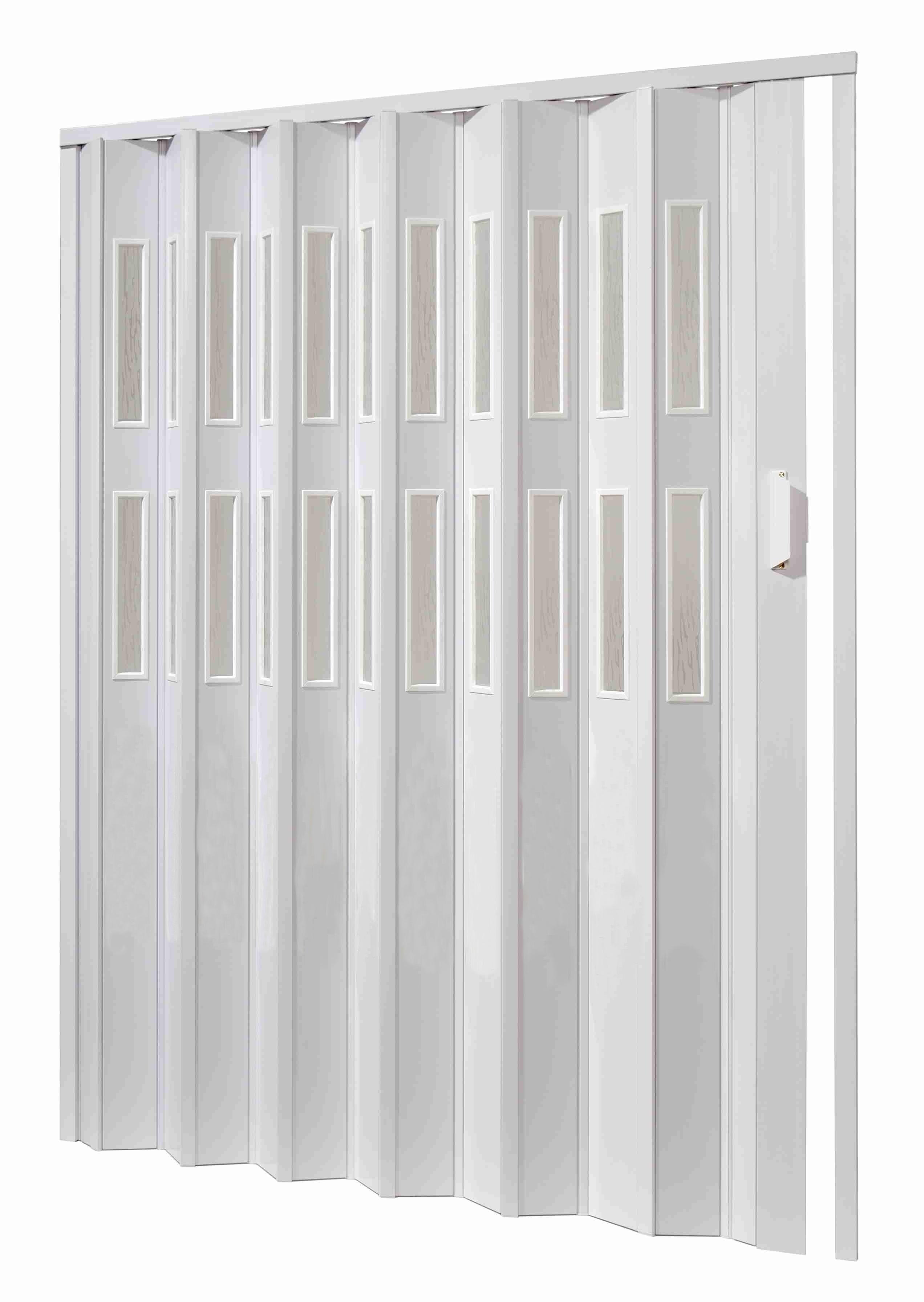 Shrnovací dveře - bílé, prosklené 120x200cm ODSTÍN: BÍLÁ, TYP DVEŘÍ: plné