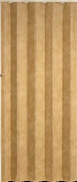 Koženkové shrnovací dveře 83x200cm světlá hnědá TYP: plné