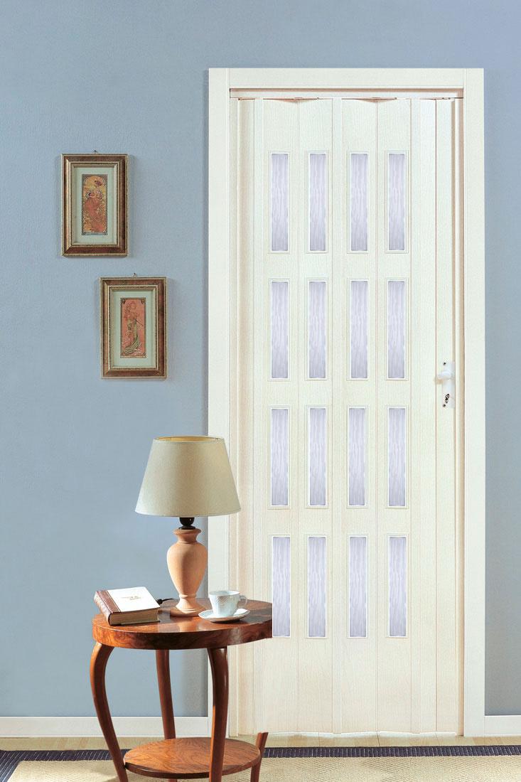 PETROMILA shrnovací dveře bříza ROZMĚR: 62x200cm